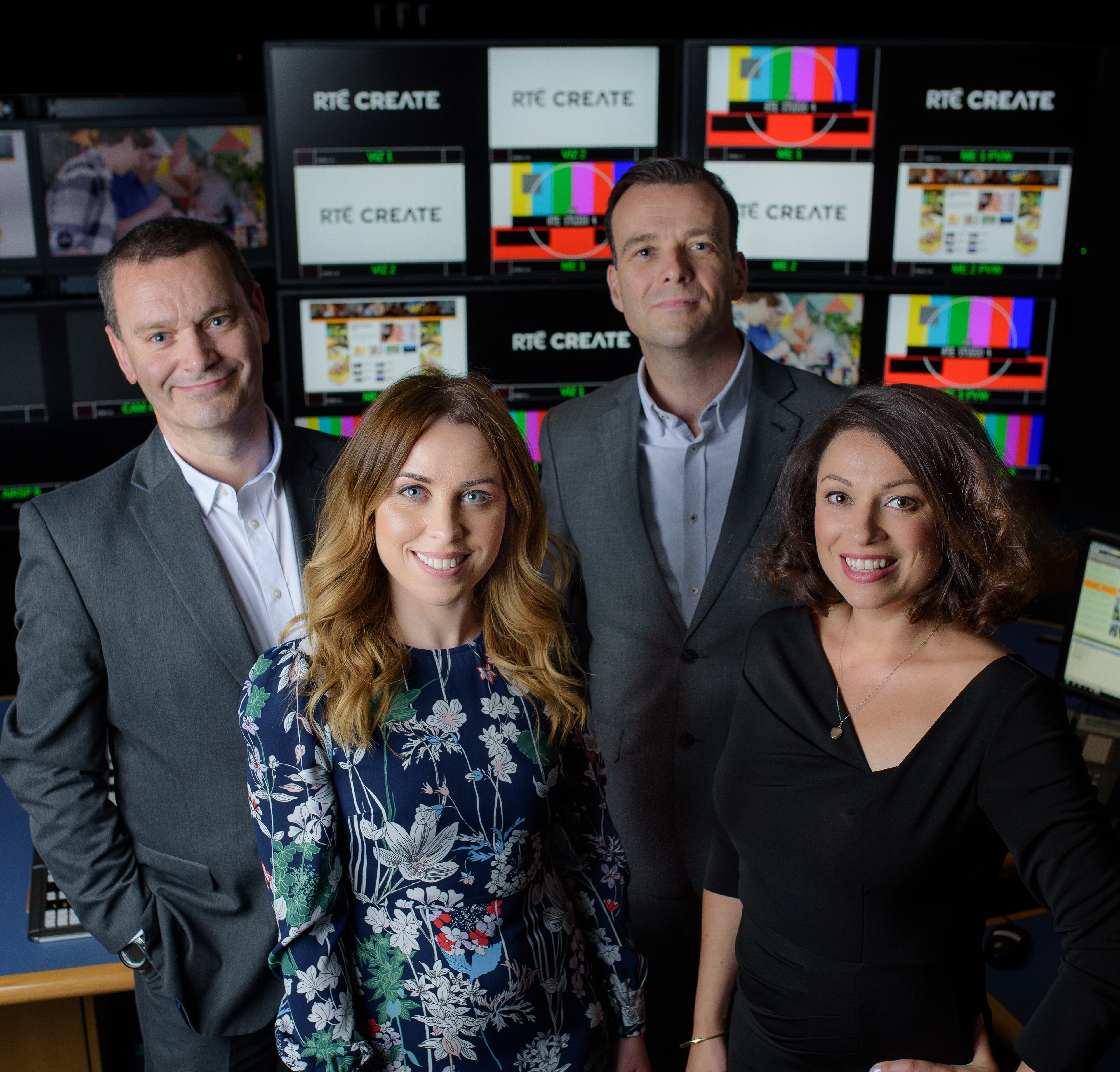 Left to right: Conor Mullen, Commercial Director, Cara Doyle, Branded Content Manager. Ken Nugent, Sales and Business Development Manager, SallyAnn King, Branded Content Manager
